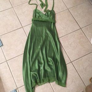 Silk Green Dress
